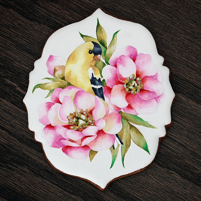 TROPICAL <span>Hand Painted Nature Cookie (ENGLISH)</span>